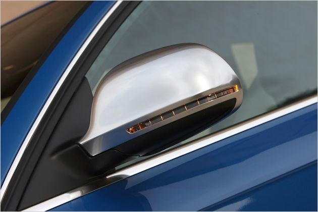 Kappe spiegel kunststoff abs alu look satin audi a6 s6 c6 for Audi a6 breite mit spiegel